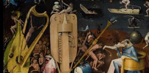 De man in de harp (tweede van links).
