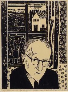 Portret van Pierre Kemp (1958) door Jos Kipping.