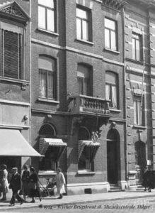 Muziekcentrale Hilger in 1954. Foto van de Facebookpagina 'Veer zien van Wiek'.