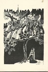 Hetty Kluijtmans, illustratie in 'Het Zwarte Christusbeeld in de Sint Maartenskerk te Wijk Maastricht'. Maastricht, 1959.
